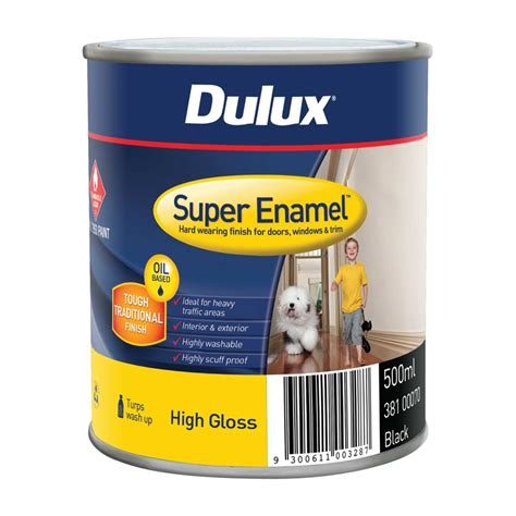 high gloss paint dulux super enamel 500ml high gloss black enamel paint