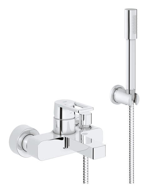 wall mounted bath shower mixer tap grohe quadra wall mounted bath shower mixer tap with