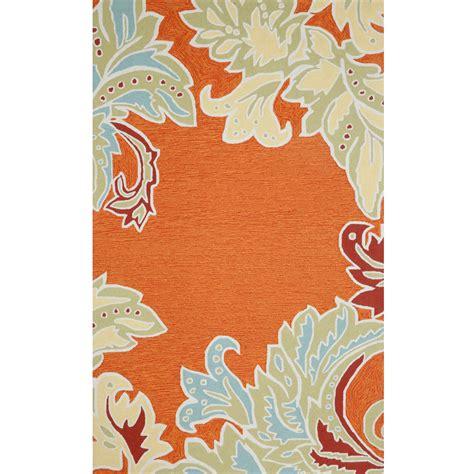 orange outdoor rug ravella ornamental leaf orange rug by liora manne on sale