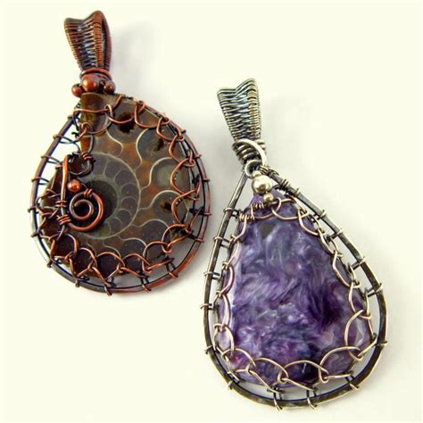 10 wire wrapped pendant patterns