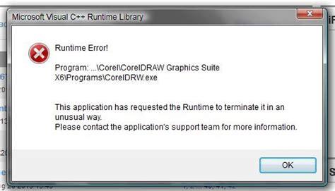 corel draw x5 runtime error coreldraw runtime error coreldraw graphics suite x6