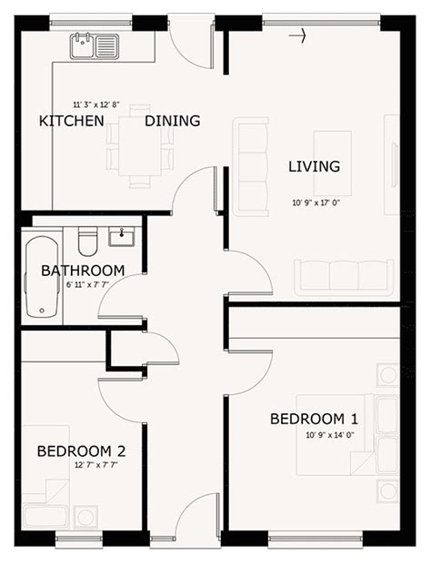 2 bed floor plans hartford homes isle of property developers