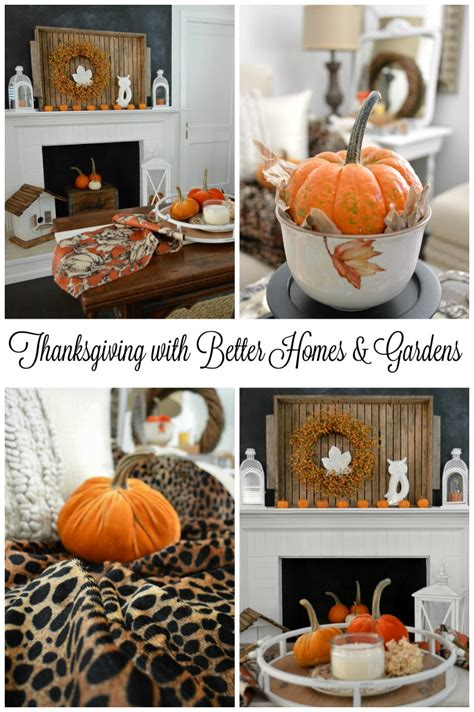 Better Home Decor thanksgiving in our home with better homes and gardens