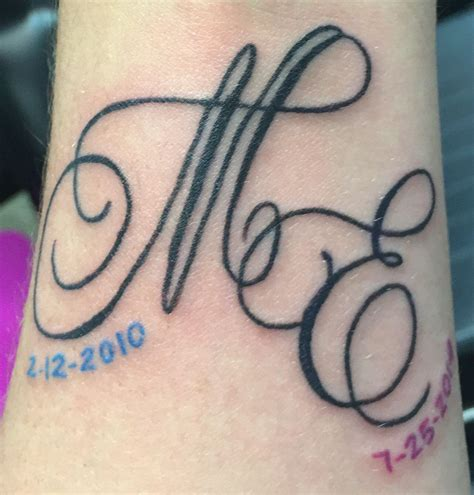 tattoo ideas initials my new initials and birthdates