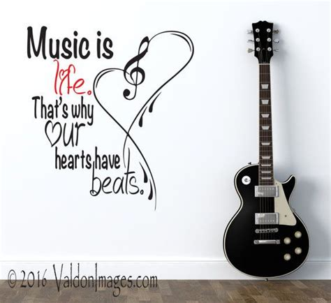 music decals for bedroom music is life quote wall decal great home decor for the