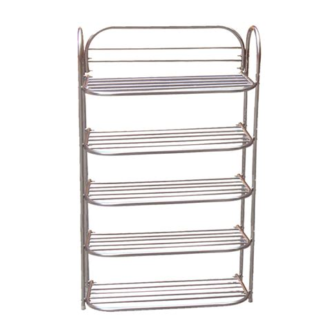 Shoe Rack Stainless Steel by Foldable Stainless Steel 5 Shelf Shoe Rack