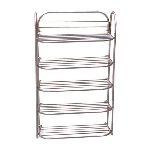 Stainless Steel Shoe Rack by Foldable Stainless Steel 5 Shelf Shoe Rack