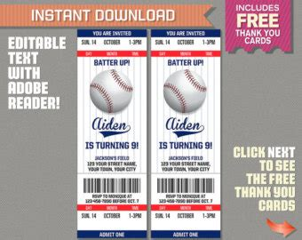Baseball Ticket Invitation Template Free Beneficialholdings Info Baseball Birthday Invitation Templates Free