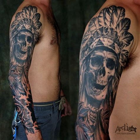 tribal skull sleeve tattoos 54 skull designs fashion design trends