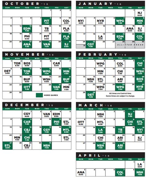 2015 2016 nhl schedule release dallas must improve