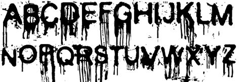 font design horror image gallery horror fonts