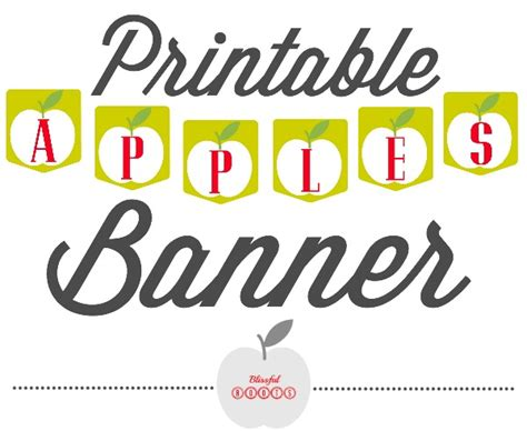 printable banner maker for mac blissful roots printable apple banner