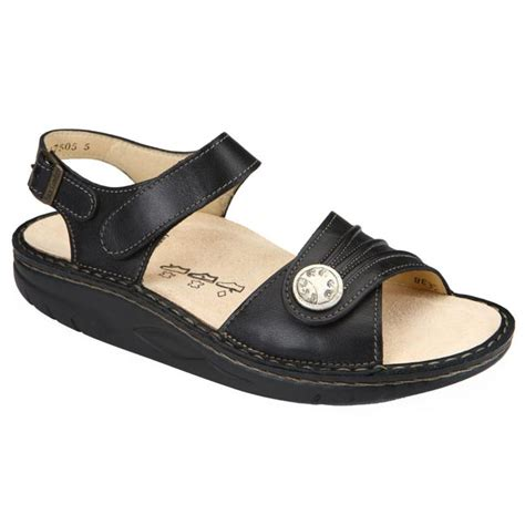 Finn Comfort Sausalito by Finn Comfort Sausalito Leather Soft Footbed Black