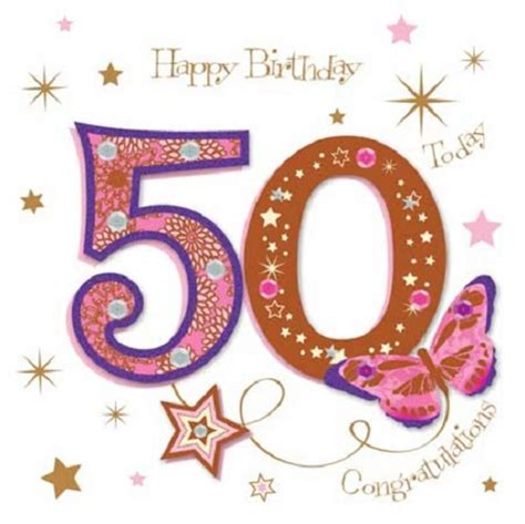 Free 50th Birthday Cards Happy 50th Birthday Greeting Card By Talking Pictures
