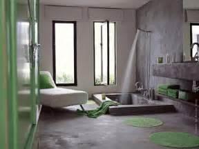 d 233 co salle de bain gris et vert