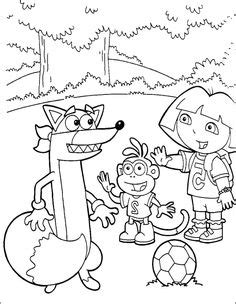 dora soccer coloring pages dora and boots in the garden coloring pages dora the
