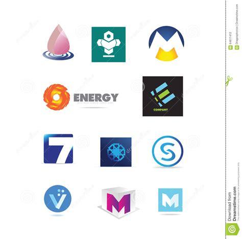 Corporate Business Logo Design Elements Set Stock Vector Illustration Of Label Silhouette Vector Company Logo Element Template