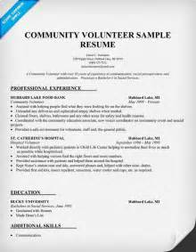 Resume Samples Volunteer community volunteer resume sample to do list