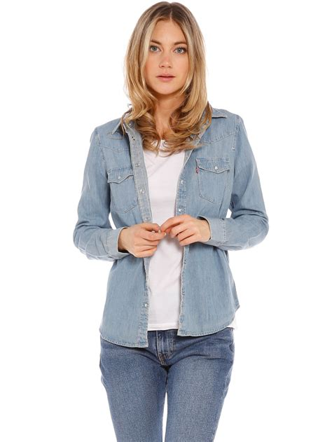 light denim shirt womens levi s modern denim shirt in seascape light denim