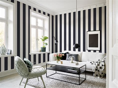 Striped Wallpaper Living Room Ideas by 10 Striped Wallpaper Design Ideas Bright Bazaar By Will