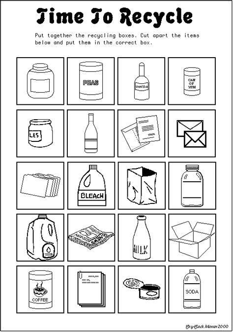 Recycle Worksheets by Recycling Esl Resources