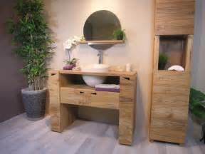 meuble de salle de bain en teck leroy merlin
