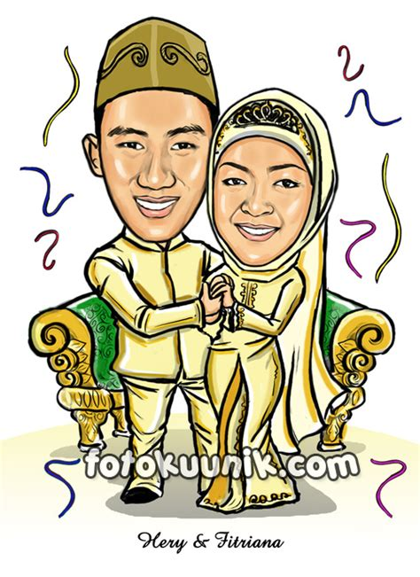 Animasi Wedding Free by Kartun Pernikahan Holidays Oo