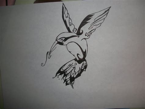 humming bird tattoo design 1 by xburtoncarterdeppx on