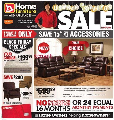 home furniture flyer nov 21 to dec 2