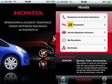 honda roadside assistance app drivespark news