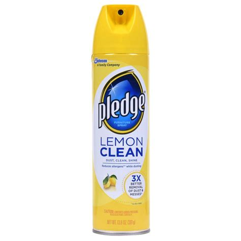 couch disinfectant spray pledge 13 8 oz lemon clean furniture cleaner 623913 the
