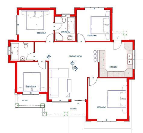 Home Building Plans Free | house plan sm 003 my building plans