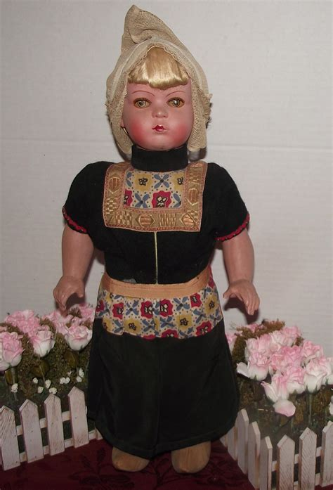 composition walking doll vintage german wood composition character