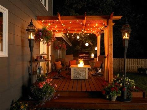 Pergola String Lights Firepit Cozy House Beautiful Pergola String Lights