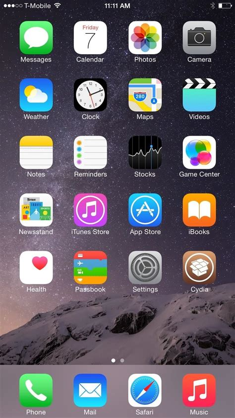 iphone   resolution home screen landscape