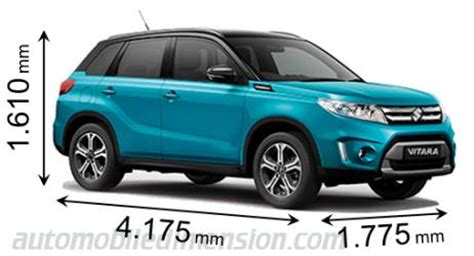 Suzuki Automobiles Dimensions Of Suzuki Cars Showing Length Width And Height