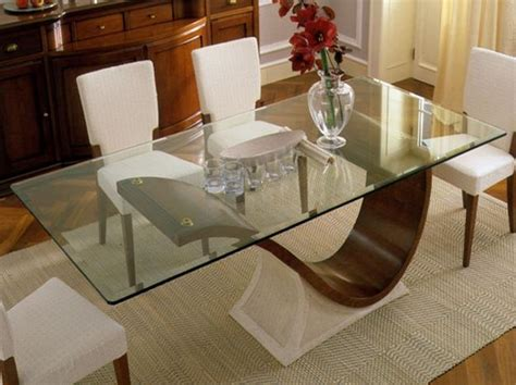 Dining Room Tables With Glass Tops by Glass Top Tables Magnifying Beautiful Dining Room Design