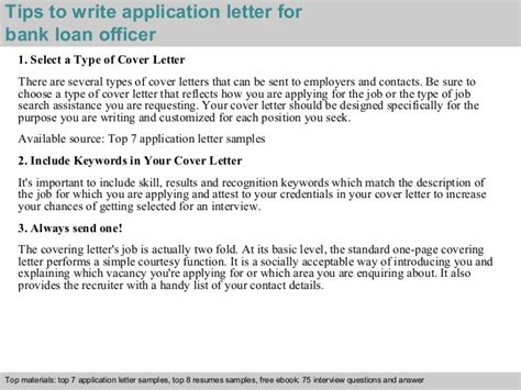 How To Write Loan Letter To Bank Bank Loan Officer Application Letter