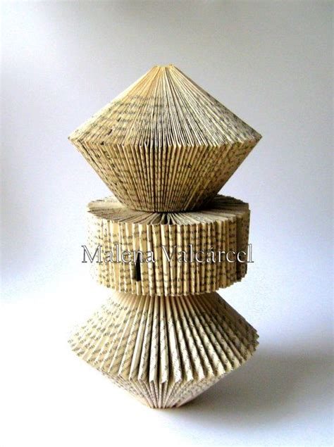 Folded Paper Sculpture - paper sculpture altered book sculpture folded book
