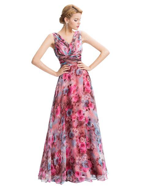 Bridesmaid Dress Material Names - grace karin new sleeveless v neck floral pattern chiffon