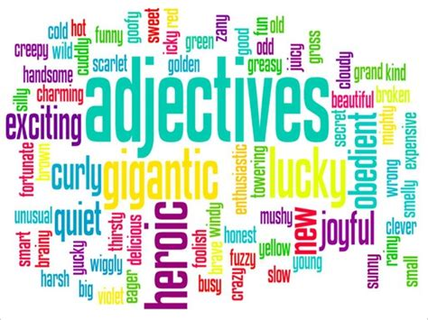 adjectives to describe your vacation