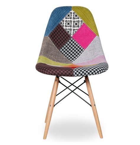 chaise eames patchwork chaise dsw r 233 plique eames assise en tissu patchwork