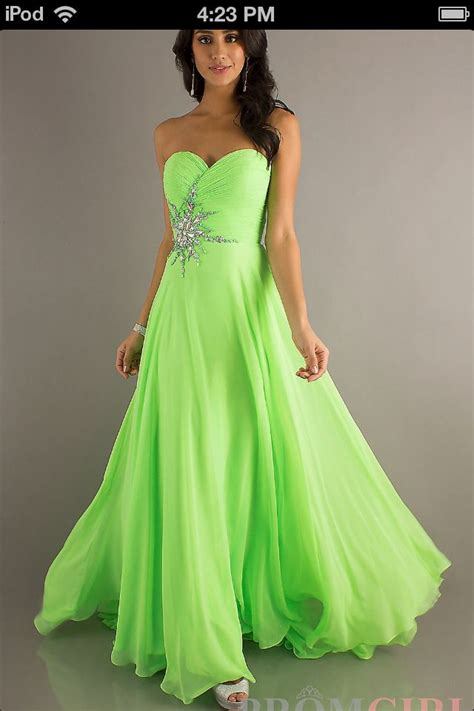 light green dress with sleeves lime green prom dress in love prom dresses pinterest