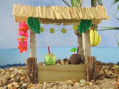 Miniature Tiki Bar Tiki Bar For Tropical Garden Or Cake Topper By