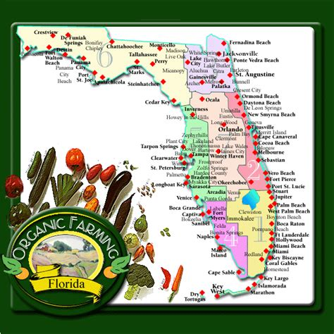 agricultural map of florida florida organic farms