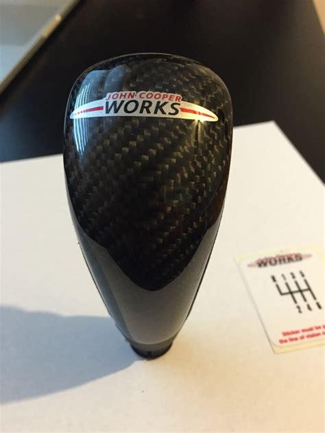Jcw Shift Knob by Fs Jcw Shift Knob Alcantara With Carbon Fiber