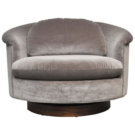furniture large swivel chair large milo baughman swivel chair at 1stdibs