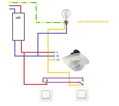 Interrupteur Detecteur De Mouvement Va Et Vient by Raccordement De D 233 Tecteurs De Presence Schema Electrique