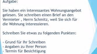 Reklamation Brief B1 Neue Wohnung Mieten Brief Schreiben Zur Pr 252 Fung B1