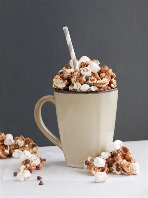 hot cocoa popcorn campfire marshmallows